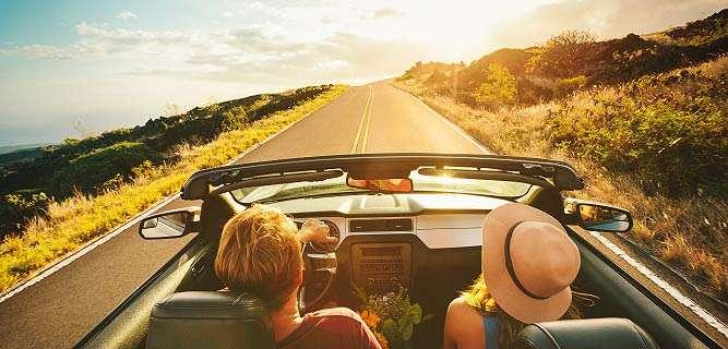 viagem de carro cobertura de seguro auto.